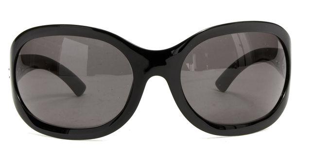GUCCI Black Oval Sunglasses w/ Case