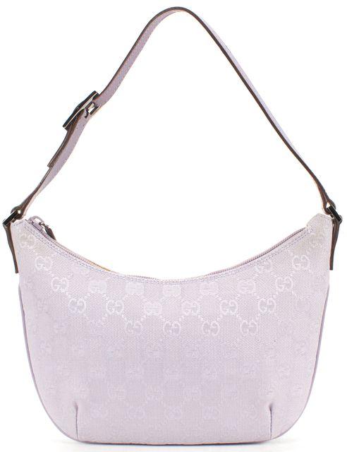 GUCCI Lavender Purple GG Monogram Canvas Mini Hobo Shoulder Bag
