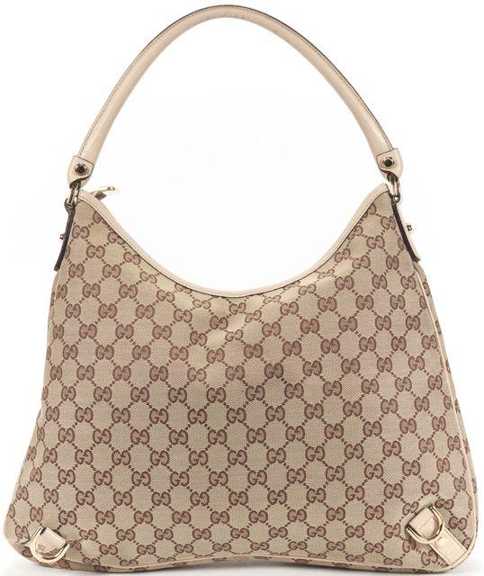 GUCCI Beige Monogram Canvas GG Guccissima Hobo Shoulder Bag