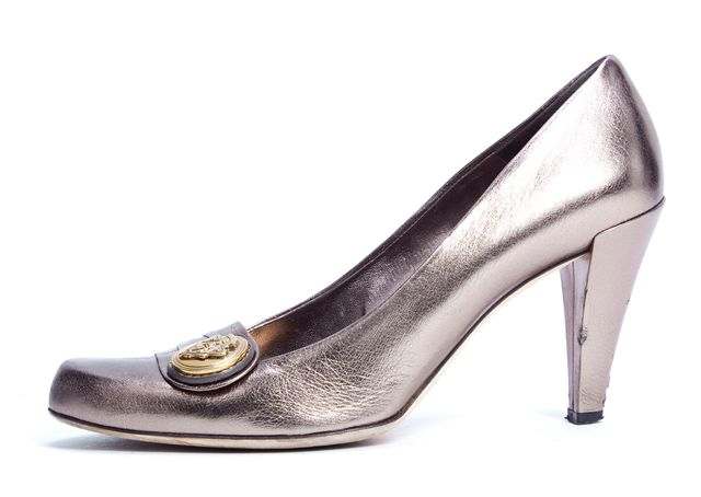GUCCI Gold Leather Hysteria Pumps