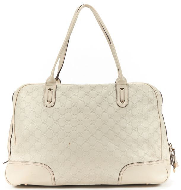 GUCCI Beige Guccissima Monogram Leather Shoulder Bag