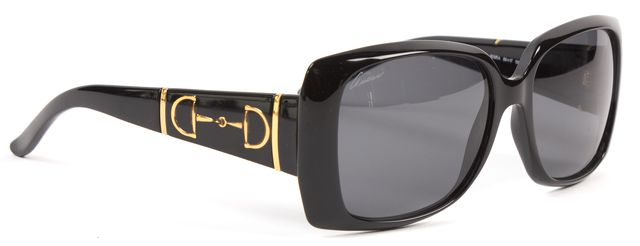 GUCCI Black Rectangle Acetate Frame Gradient Lens Sunglasses
