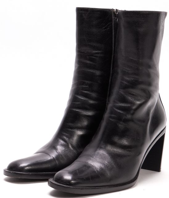 GUCCI Black Leather Mid-Calf Boots