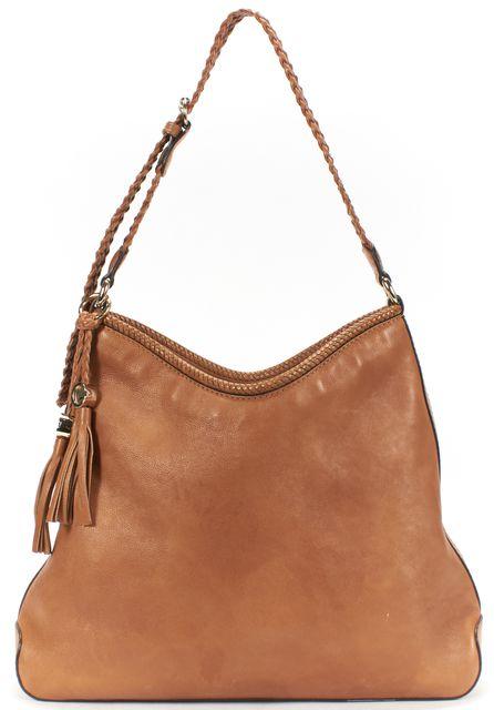 GUCCI Brown Leather Marrakech Medium Hobo Shoulder Bag