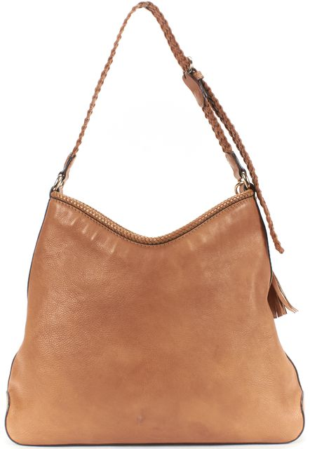 GUCCI Brown Leather Marrakech Medium Hobo Shoulder Bag