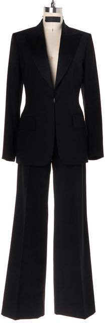 GUCCI Black Wool Pant Suit Suit Set