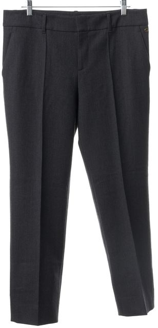 GUCCI Gray Wool Blend Pleated Trouser Dress Pants