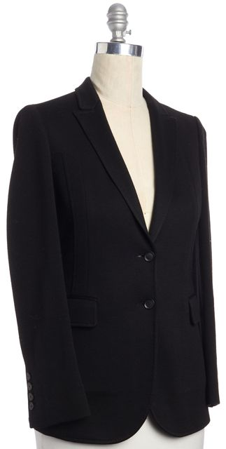 GUCCI Black Wool Blend Double Button Closure Blazer
