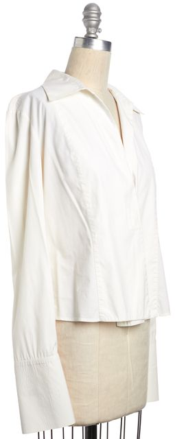 GUCCI White Single Button Down Long Sleeve Blouse Top