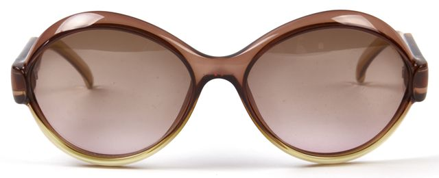 GUCCI Brown Clear Round Sunglasses