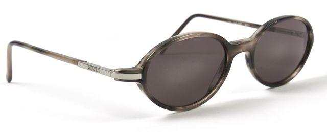 GUCCI Gray Tortoise Oval Sunglasses