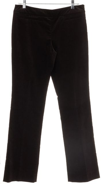 GUCCI Brown Velvet Casual Flare Pants