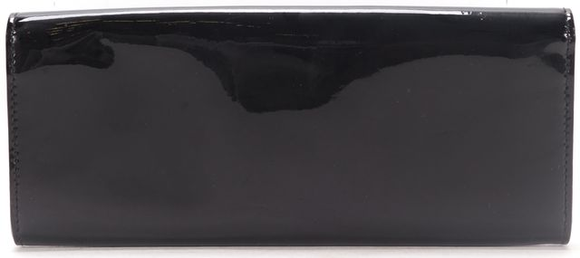 GUCCI Black Patent Leather Buckle Clutch Bag