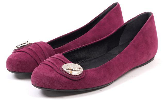 GUCCI Purple Suede Ballet Flats