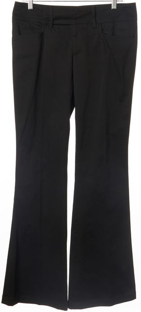GUCCI Black Stretch Cotton Flared Leg Trousers Pants