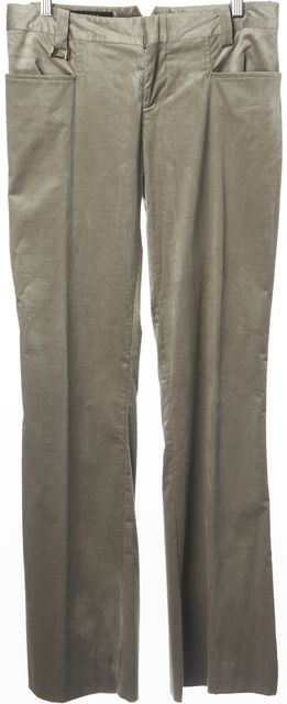 GUCCI Silver Flared Bottom Corduroy Pants US 8 IT 44