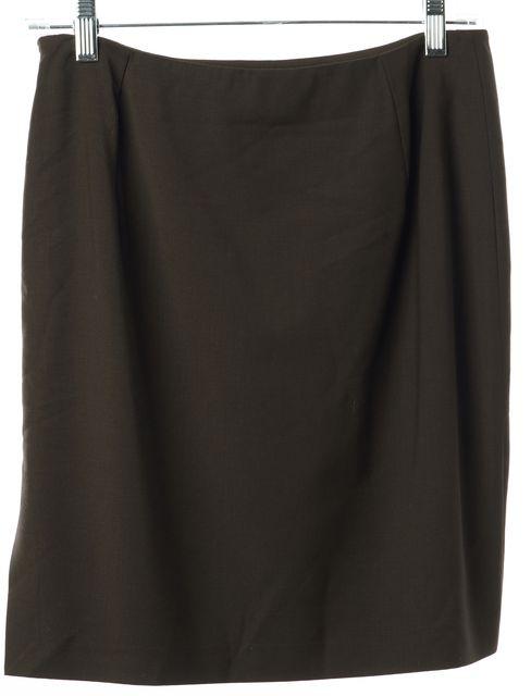 GUCCI Brown Wool Mini A-Line Skirt
