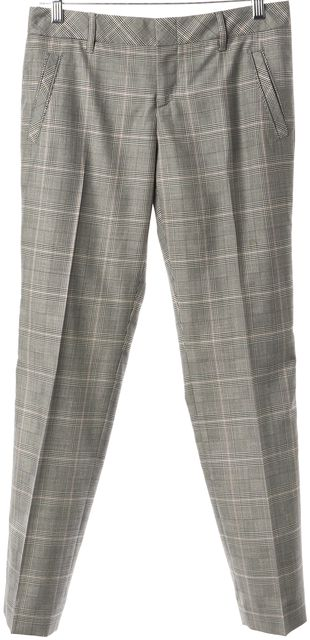 GUCCI Gray Red Plaid Wool Pleated Trouser Dress Pants