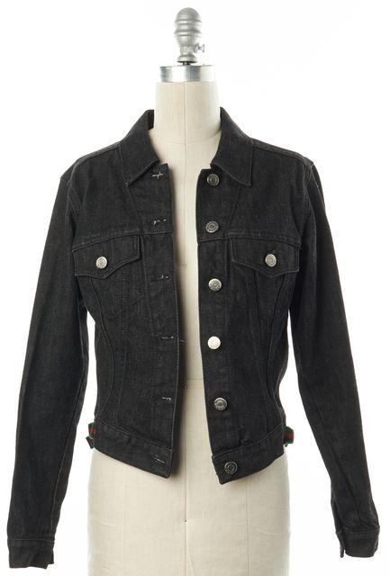 GUCCI Black Cotton Denim Jean Jacket