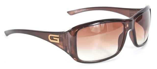GUCCI Bronze Acetate Gradient Lens Rectangle Sunglasses