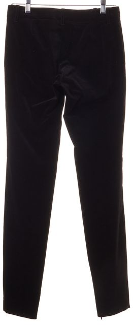 GUCCI Black Velour Casual Pants US 2 IT 38