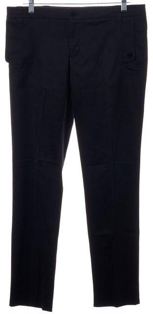 GUCCI Black Stretch Cotton Pleated Trouser Dress Pants