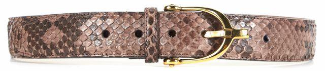 GUCCI Brown Beige Python Gold Tone Hardware Belt