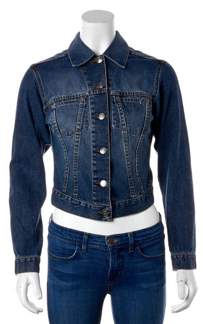 GUCCI Casual Blue Basic Denim Jacket