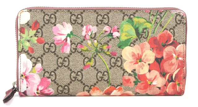 GUCCI Multi-Color Blooms GG Supreme Coated-Canvas Wallet