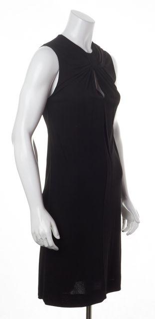 GUCCI Black Sleeveless Gathered Sheath Dress