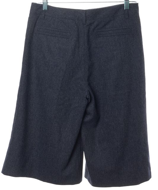 GUCCI Gray Wool Blend Pleated Bermuda Dress Shorts