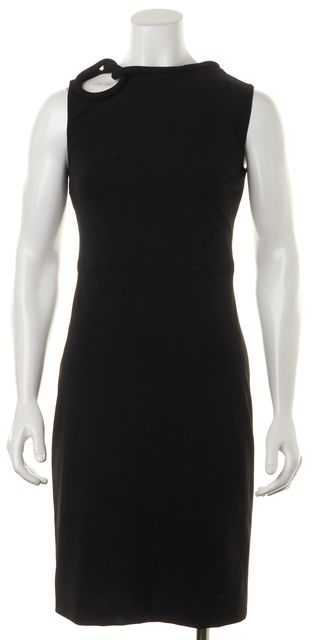 GUCCI Black Stretch Jersey Front Knot Detail Sleeveless Sheath Dress
