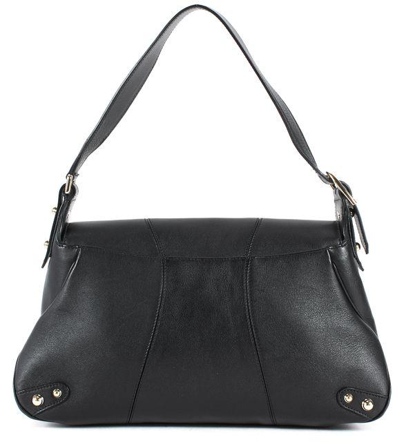 GUCCI Black Leather Gold Tone Hardware Adjustable Strap Shoulder Bag