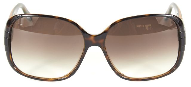 GUCCI Brown Tortoise Shell Acetate Gradient Lens Oval Sunglasses w/ Case