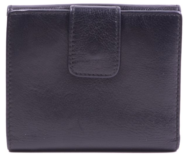 GUCCI Black Leather Bamboo Detail Fold Over Wallet
