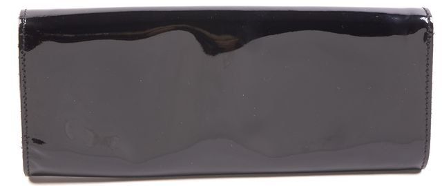 GUCCI Black Patent Leather Romy Buckle Clutch