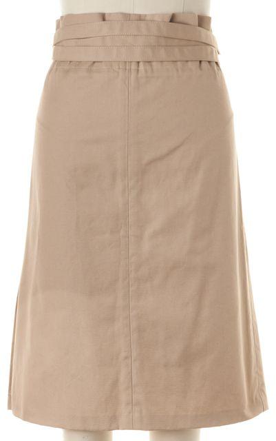 GUCCI Khaki Beige Knee-Length Belted A-Line Skirt