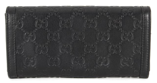 GUCCI Black GG Guccisima Embossed Leather Sukey Wallet