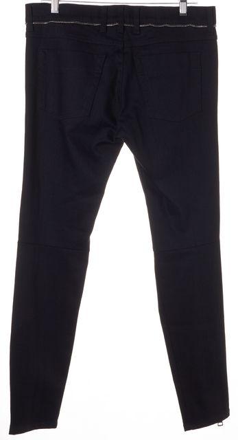 GUCCI Black Denim Super Skinny Biker Zipper Trim Jeans