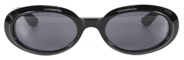 GUCCI Black Acetate Frame Small Oval Sunglasses