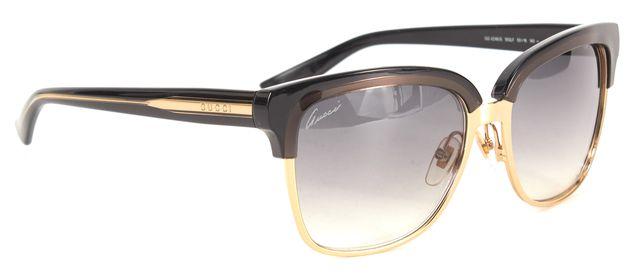 GUCCI Black Gold GG 4246/S Square Gradient Metal Acetate Sunglasses W/ Case