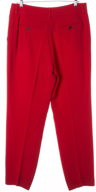 GUCCI True Red Pleated Dress Pants