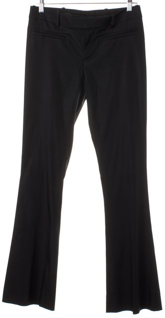 GUCCI Solid Black Acetate Flare Leg Trouser Pants 4 IT 40