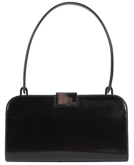 GUCCI Black Patent Leather Shoulder Bag