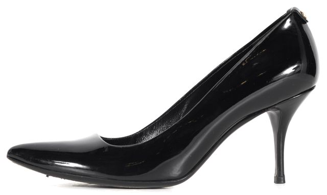 GUCCI Black Patent Leather Pointed Toe Pump Heels
