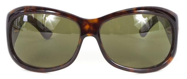 GUCCI Brown Tortoise Shell Acetate Oval Sunglasses w/ Case