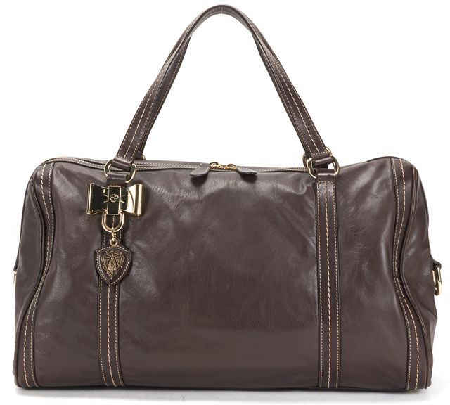 GUCCI Brown Leather Duchessa Large Boston Shoulder Bag