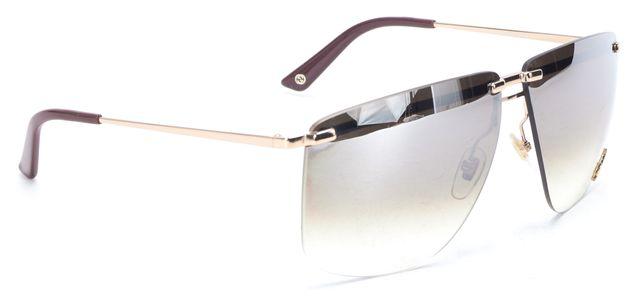 GUCCI Rose Gold Metal Gradient Lens Rimless Sunglasses