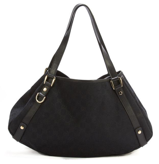 GUCCI Black Canvas Shoulder Bag