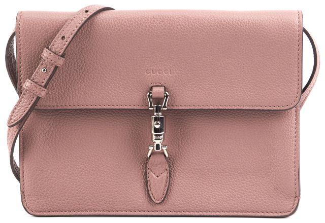 GUCCI Mauve Jackie Soft Convertible Small Crossbody Bag